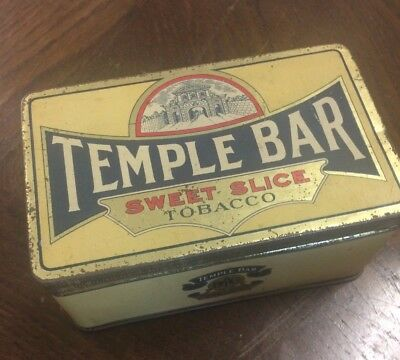 Early Temple Bar Sweet Slice Tobacco 1lb Tin On Pound VGC BAT Melbourne