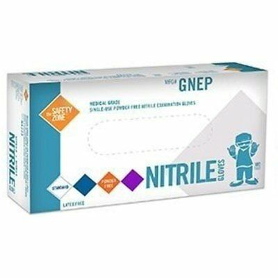 Purple Nitrile Exam Gloves Medical Grade Disposable Powder Latex 100Pc GIFT NEW