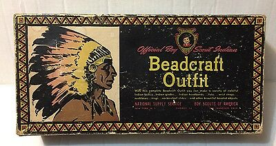 Official Boy Scout Indian Beadcraft Outfit No.1144 Vintage