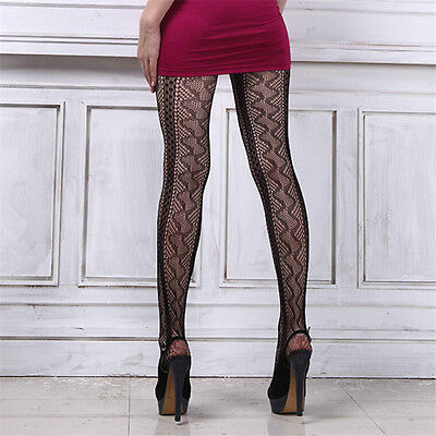 New Black TOELESS OPEN TOE Pantyhose Fishnet Stockings Tights one size fit most