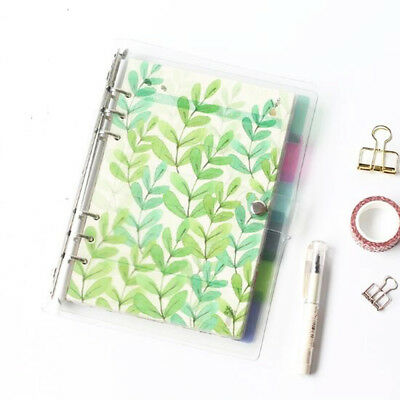 6PCS/set A5A6 planner 6 holes color index of notebook pages Paging separators
