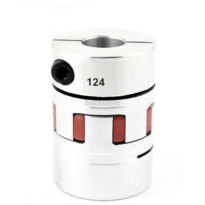 22 mm x 22mm Flexible Plum Coupling D55 L78 Stepper Motor Coupler Aluminum Alloy