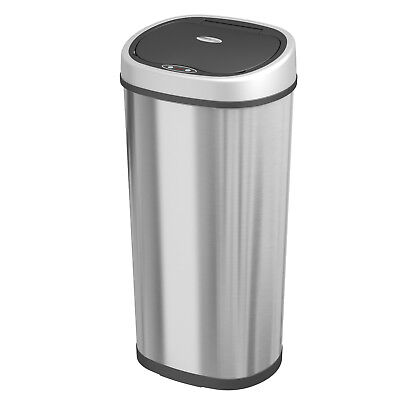 58 Litre Stainless Steel Automatic Auto Sensor Touchless Chrome Waste Dust Bin