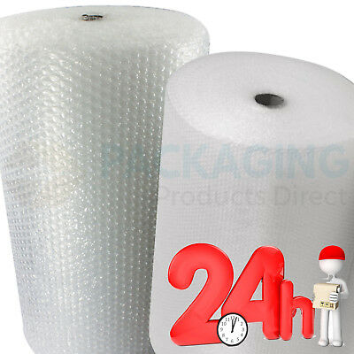 BUBBLE WRAP UK SMALL LARGE BUBBLE 300mm/500mm/750mm -100m Roll NEXT DAY DELIVERY