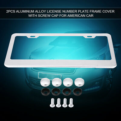 Pair American Standard License Number Plate Frame Cover Front & Rear Universal