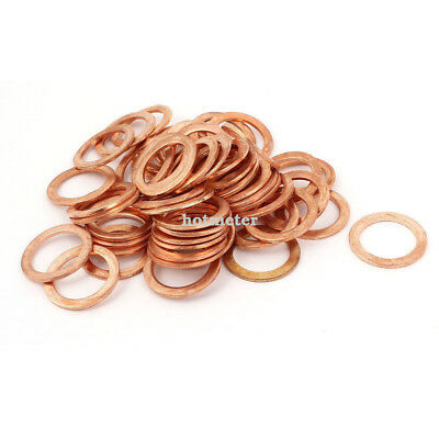 50 Pcs Metric Ring Shape Copper Flat Washer 17mm x 24mm x 1.5mm