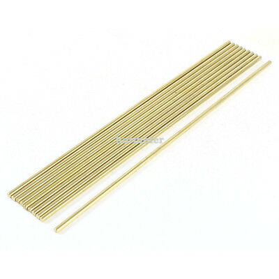 10 Pcs Car Helicopter Model Toy DIY Brass Axles Rod Bars 3mm x 190mm