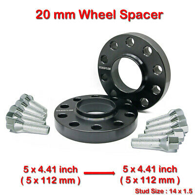 (2)20mm 14x1.5 5x112mm 66.56 Hub Centric Wheel Spacer For Audi A8 S6 S8 RS6 RS8