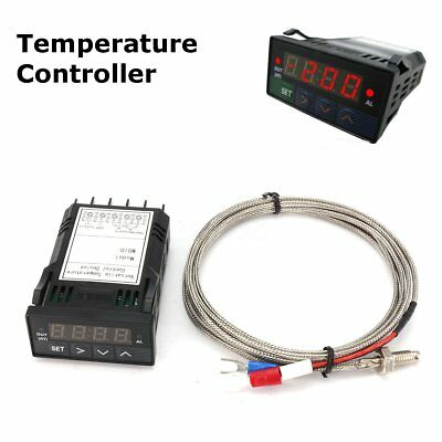 12V DC 1/32DIN Digital F/C PID Temperature Controller with K Thermocouple SSR