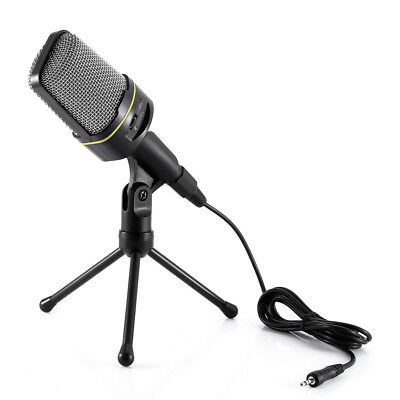 Yanmai Condenser Sound Microphone with Stand for PC Laptop Skype Recording BLACK