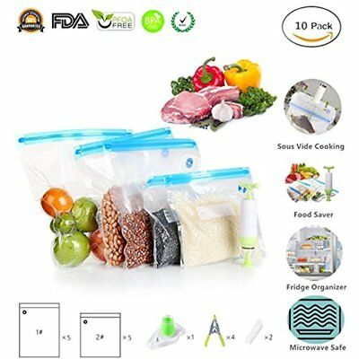 Sous Vide Machines Bags Essentials Kit For Anova And Joule Cooker, Reusable Food