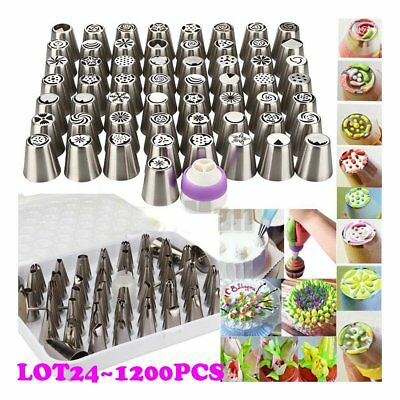 LOT Russian Flower Icing Piping Nozzles Tips Pastry Cake DIY Baking Tool Tips OY