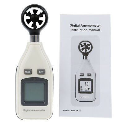 5X(Digital Wind Speed Air Velocity Temperature Anemometer LCD Display with Back)