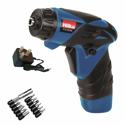 3.6v Cordless Screwdriver Set Bits Magnetic Holder Lithium-ion Work LED - HILKA