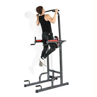 Adjustable Pull Up Stand Rack Station Power Tower Pro Muscle Toning Toner O5N5