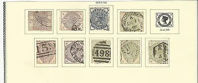 Great Britain: Scott 98 to 107 (106 missing) used, (F toxf), Cat 910$ . GB153