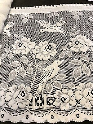 Vintage Secret Garden cafe curtain Cream Nottingham lace valance brise-bise 18""