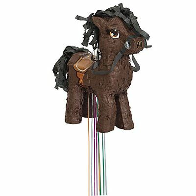 BROWN Horse Pinata, Pull string (v8C)