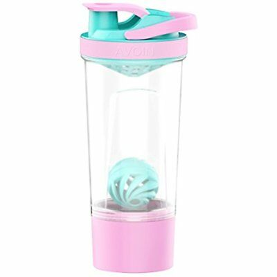 Sports Nutrition 24 Ounce Protein Shaker Bottle With Mixball And Storage Jar BPA
