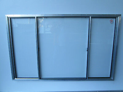"40"" X 64"" Concession Window Glass windows slide from outside to the center"