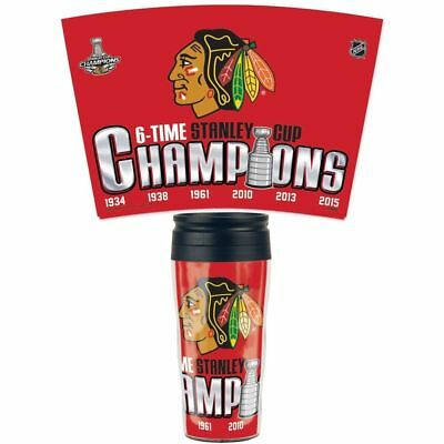 Chicago Blackhawks 2015 Stanley Cup Champions, 16-Ounce Travel Mug