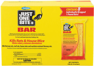 8 Just One Bite Ii Bar Packs. 8 Lbs. Mouse And Rat Poison. 8 Packs Great Deal!