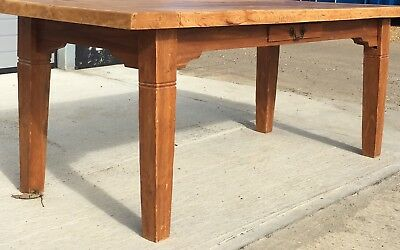 Stunning Antique Planked Farmhouse Kitchen Table