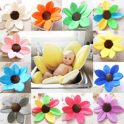 Blooming Bath For Baby Infant Lotus Petals Babies Washcloths Flower Bath Tub Mat