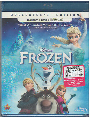 DISNEYS FROZEN (Blu-ray/DVD, 2014, 2-Disc Set, Includes Digital Copy) NEW