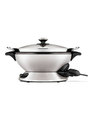 BEW820 The Hot Wok & Steam 8lt Electric Wok with Large Capacity Steamer: Stainle