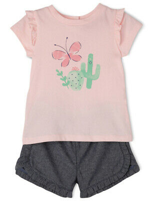 NEW Sprout T-Shirt And Short Set Lt Pink