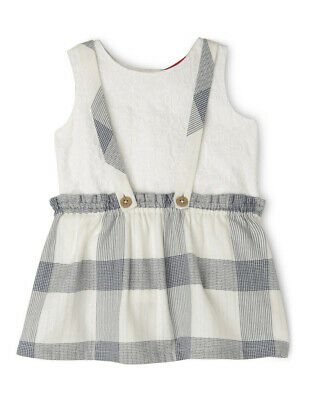 NEW Sprout Pinafore & Top Set White