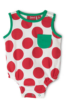 NEW Sprout Unisex Xmas Bum Applique Bodysuit Red