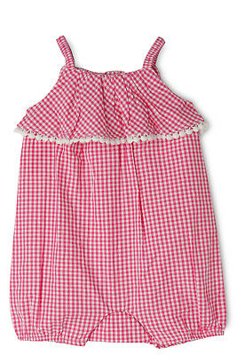 NEW Jack & Milly Dolly Ruffle Top Shortall-Pink/White Gingham Pink