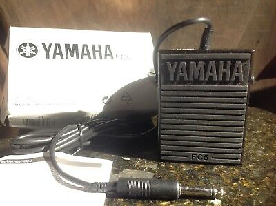 Yamaha FC5 Compact Sustain Pedal for Portable Keyboards new in box ready to ship