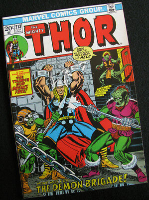Thor 213 (1973) Jim Starlin Cover! Higher Grade! Lots Of Large Photos!