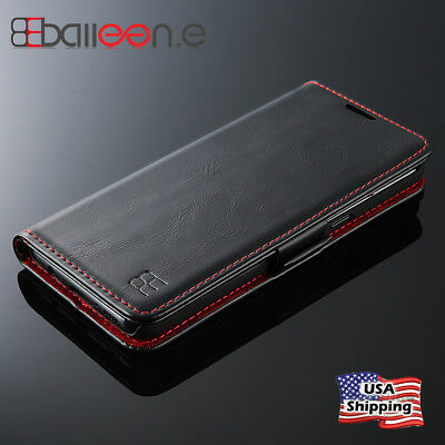 For Samsung Note 9 S9 Plus Luxury Shockproof Flip Card Slot Wallet Leather Case