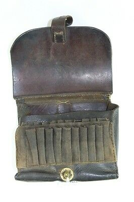 19th Century Military German / Russian Leather Cartridge Belt Pouch