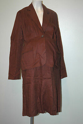 Motherhood Brown Linen Maternity Suit Size M Medium
