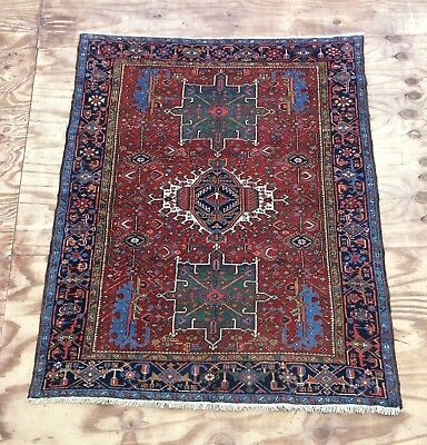 Antique Persian Gharajeh Handwoven Rug