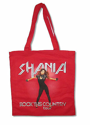 Shania Twain Rock This Country Tour Red Tote Bag New Official Country Pop