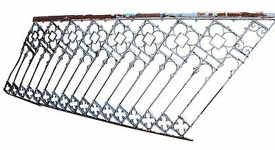 Single Section of Wrought Iron Fence with Quatrefoils