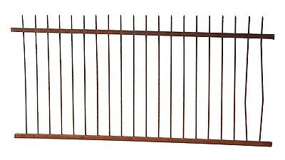 300+ ft. of Civil War Era Pencil Point Wrought Iron Fence