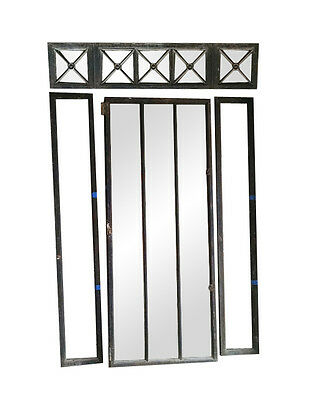 Cast Iron Frame Windows or Doors with Transom and Side Lights
