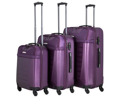 Pierre Cardin 3-Piece 4W Luggage Set - Purple