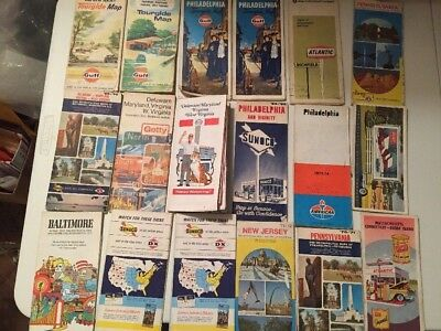 Lot of American Atlantic Gulf Sunoco Arco Oil Company US State Road Maps