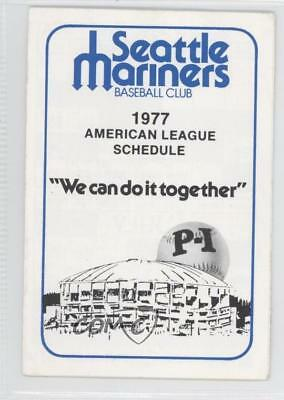 1977 Schedules #SEMA Seattle Mariners Team Publications