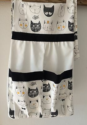 Baby Nappy/ Diaper Stacker - Black & white cats