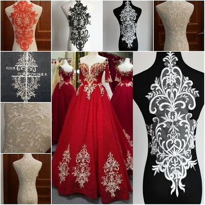 Tulle Mesh Embroidery Floral Lace Collar Trim Wedding Bridal Sewing Applique DIY