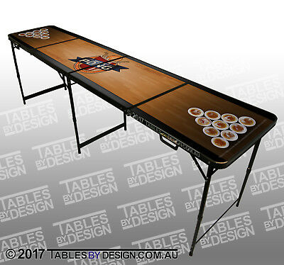 'Table Of Dreams' Beer Pong Table (2.4m L x 0.6m W x 0.76m H) + 2trays & 6balls